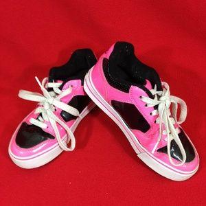 HEELYS Girls Youth Size 1 Pink/Black